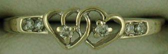 Ladies Double Heart Ring