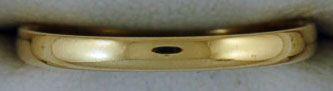 2mm Wide Plain Band