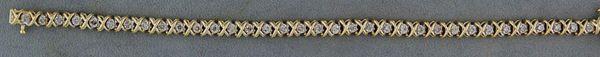 1ctw Diamond X and O link Tennis Bracelet