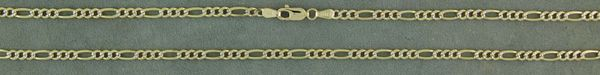 "24"" Diamond Cut Figaro Link Chain"