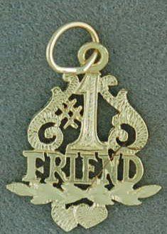 #1 Friend Pendant/Charm