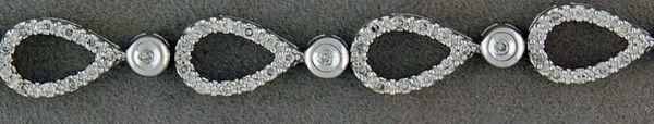 1ctw Diamond Pear Shaped Tennis Bracelet