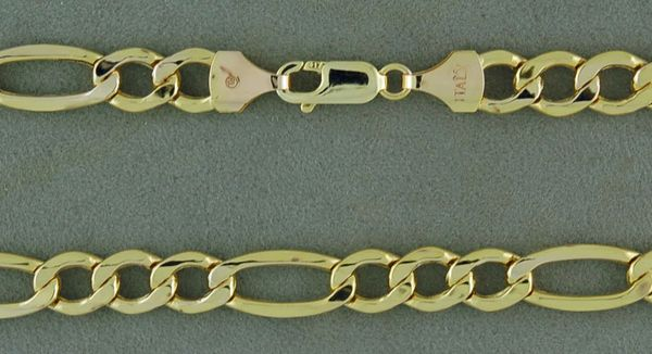 "22"" Hollow Figaro Link Chain"