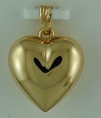 Hollow Puff Heart Pendant