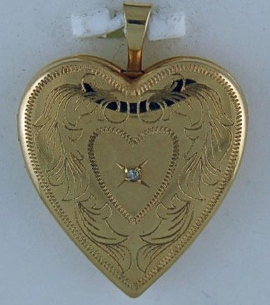 Patterned Heart Locket