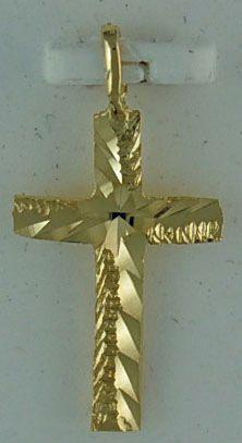 "1"" Patterned Cross Pendant"