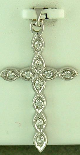 1/6ctw Diamond Cross Pendant