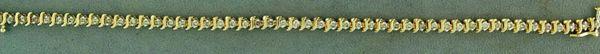 """Ladies 1-3/8ctw """"S"""" Link Diamond Tennis Bracelet"""