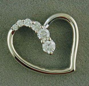 1/4ctw Diamond Floating Heart Pendant