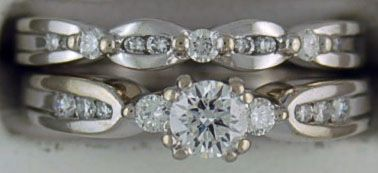 Ladies 5/8ctw Diamond Wedding Set