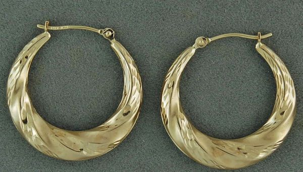 Twist Style Hoop Earrings