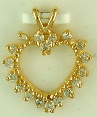 Ladies 1/2ctw Diamond Heart Pendant