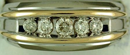 Gentleman's Two-Tone 1/2ctw Diamond Ring