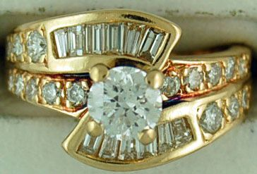 Ladies 1-3/4ctw Diamond Engagement Cluster Ring