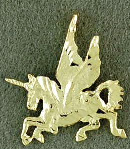 Small Winged Unicorn Pendant