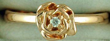 Ladies Diamond Rose Ring