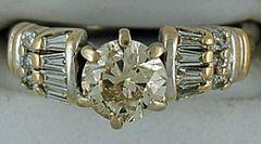 Ladies 1-1/2ctw Diamond Engagement Ring