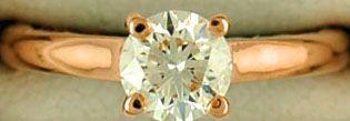 Ladies 5/8ct Round Cut Diamond Solitaire Ring