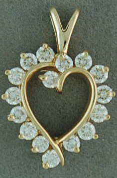 9/10ctw Diamond Heart Pendant