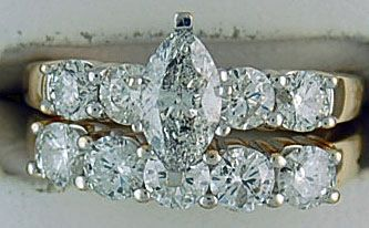 Ladies 2.5ctw Diamond Wedding and Engagement Set