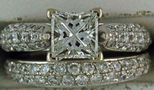 Ladies 1-3/4ctw Diamond Wedding Set