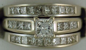 Ladies 2ctw 3 Band Wedding Set