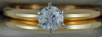 Ladies 3/8ct Round Cut Diamond Solitaire Ring