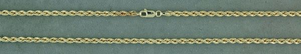 """20"""" Hollow Rope Chain"""