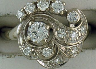 3/4ctw Diamond Free Form Period Piece