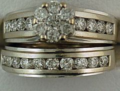Ladies 1-1/5ctw Diamond Wedding and Engagement Set