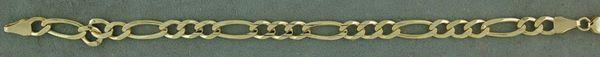 """7"""" Figaro Link Bracelet"""