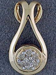 1/10ctw Diamond Cluster Pendant