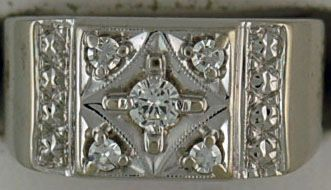 Gentleman's 3/8ctw Diamond Illusion Ring