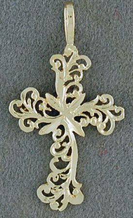 Filigree Flower Cross