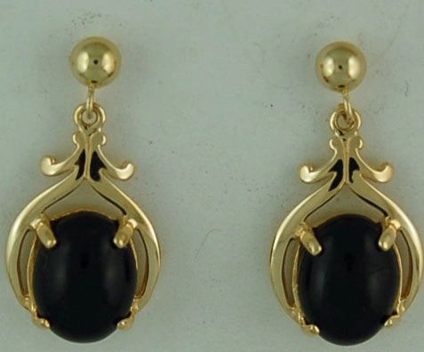 Black Onyx Dangle Earrings