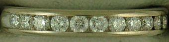 5/8ctw Round Cut Diamond Band