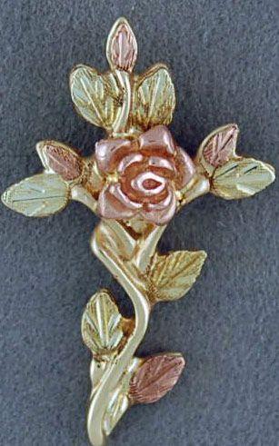 Rose and Leaf Cross