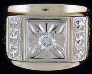 Gentleman's 1/6ct Diamond Solitaire Ring