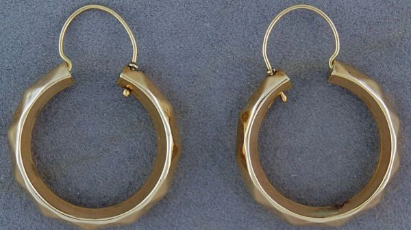 Patterned Gold Hoop