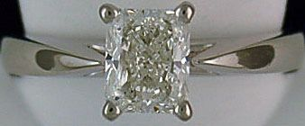 Ladies 1ct Radiant Cut Diamond Solitaire