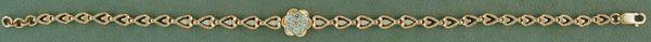 "7"" Heart Link Diamond Tennis Bracelet"