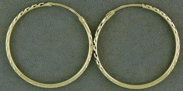 Cross-Hatch Pattern Hoop Earrings