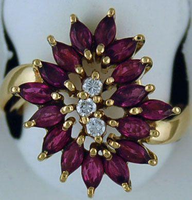 Ladies 2ctgw Ruby and Diamond Ring