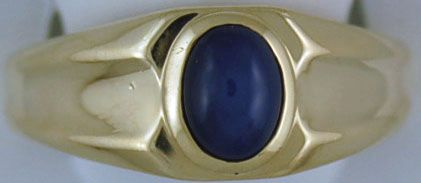 Gentleman's Synthetic Star Sapphire Ring