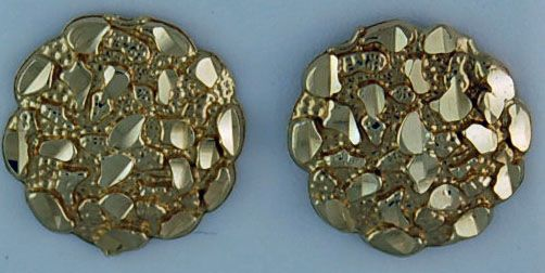 Round Nugget Style Earrings