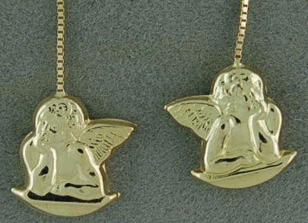 Ladies Cherub Dangle Earrings