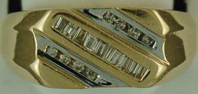 Gentleman's Two-Tone Diamond Ring