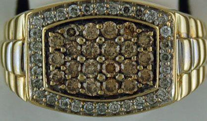 Gentleman's 1/2ctw Diamond Rolle Ring