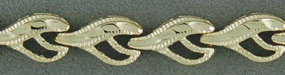 """7"""" Heart Wheat Link Bracelet"""