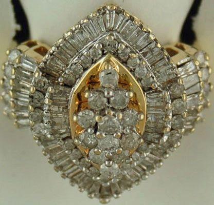 Ladies 2ctw Cluster Ring